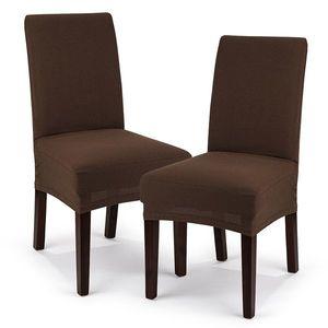 4home Multielastický poťah na stoličku Comfort hnedá, 40 - 50 cm, sada 2 ks vyobraziť