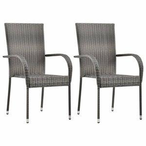 stolička umelý ratan/stohovateľná vyobraziť