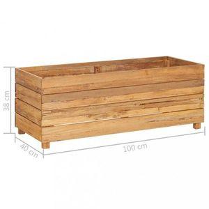 Záhradný kvetináč teakové drevo Dekorhome 100x40x38 cm vyobraziť