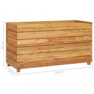 Záhradný kvetináč teakové drevo Dekorhome 100x40x55 cm vyobraziť