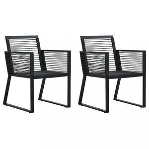 Záhradné polyratanové stoličky 2 ks čierna Dekorhome vyobraziť