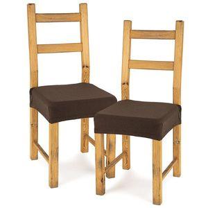 4home Multielastický poťah na sedák na stoličku Comfort hnedá, 40 - 50 cm, sada 2 ks vyobraziť
