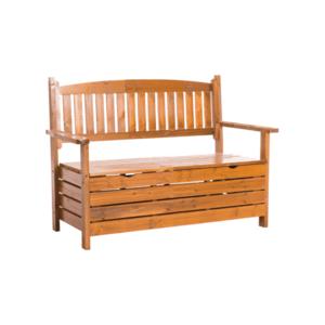 Záhradná lavička DILKA s úložným priestorom Tempo Kondela Hnedá vyobraziť
