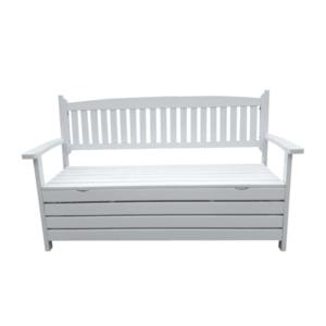 Záhradná lavička AMULA s úložným priestorom Tempo Kondela Biela vyobraziť