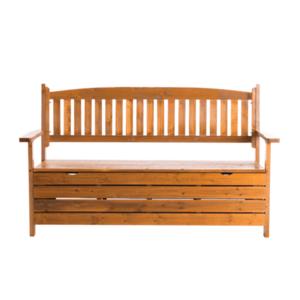 Záhradná lavička AMULA s úložným priestorom Tempo Kondela Hnedá vyobraziť