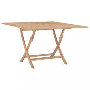 Skladací záhradný stôl 120x120 cm teakové drevo Dekorhome vyobraziť