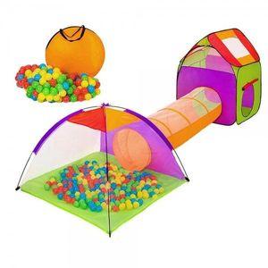 Detský stan a hrací domček s tunelom vrátane 200 loptičiek vyobraziť