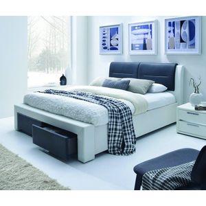 Posteľ CASSANDRA S biela / čierna s úložným priestorom Halmar 140 x 200 cm vyobraziť