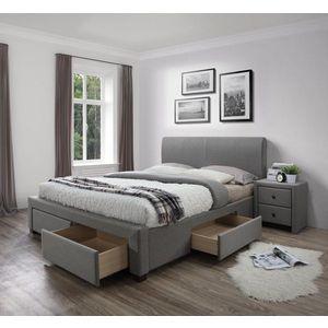 Posteľ MODENA s úložným priestorom sivá Halmar 160 x 200 cm vyobraziť