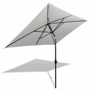 Záhradný slnečník s kovovou tyčou 300 x 200 cm Piesková vyobraziť