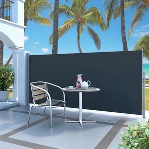 Zaťahovací bočný markíza 140x300 cm Dekorhome Čierna vyobraziť