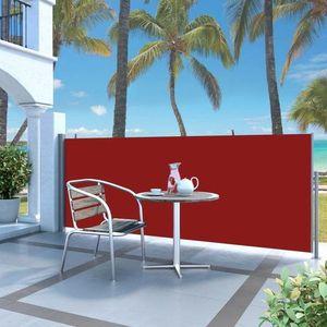 Zaťahovací bočný markíza 140x300 cm Dekorhome Červená vyobraziť