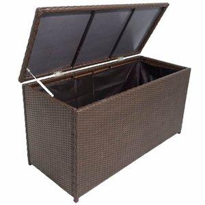 Záhradný úložný box hnedý vyobraziť
