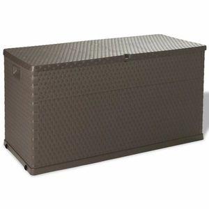 Záhradný úložný box 420 l Hnedá vyobraziť
