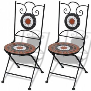 Skladacie záhradné stoličky 2 ks hnedá vyobraziť