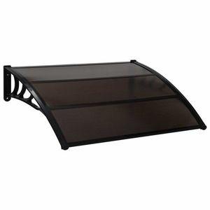Strieška nad dvere 150 x 100 cm polykarbonát Dekorhome Čierna vyobraziť