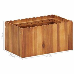 Záhradný kvetináč akáciové drevo Dekorhome 50x30x25 cm vyobraziť