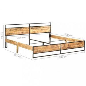 Posteľ mangovníkové drevo Dekorhome 200x200 cm vyobraziť