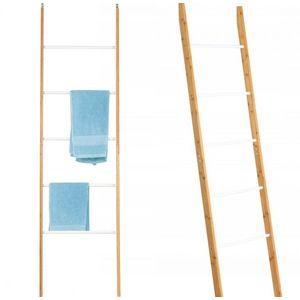 Bambusový rebrík – biely vyobraziť