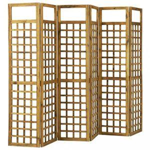 Paravan akáciové drevo / treláž Dekorhome 240x170 cm (6-dielny) vyobraziť
