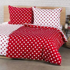 4Home bavlnené obliečky Bodka, červená, 140 x 200 cm, 70 x 90 cm vyobraziť