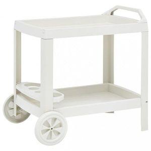 Nápojový vozík plast Dekorhome Biela vyobraziť