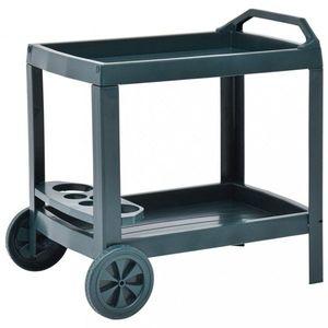 Nápojový vozík plast Dekorhome Zelená vyobraziť