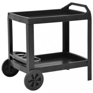 Nápojový vozík plast Dekorhome Antracit vyobraziť