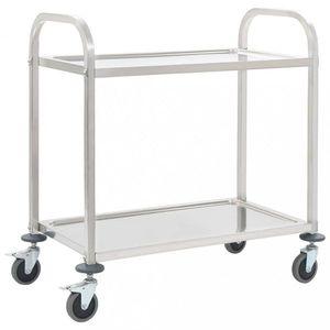 Kuchynský vozík nerezová oceľ Dekorhome 107x55x90 cm (2 police) vyobraziť