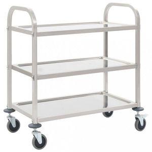Kuchynský vozík nerezová oceľ Dekorhome 107x55x90 cm (3 police) vyobraziť
