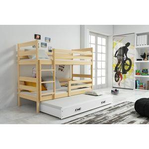 BMS Detská poschodová posteľ s prístelkou ERYK 3 | borovica Farba: Borovica / biela, Rozmer.: 160 x 80 cm vyobraziť