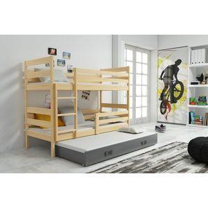 BMS Detská poschodová posteľ s prístelkou ERYK 3 | borovica Farba: Borovica / sivá, Rozmer.: 160 x 80 cm vyobraziť