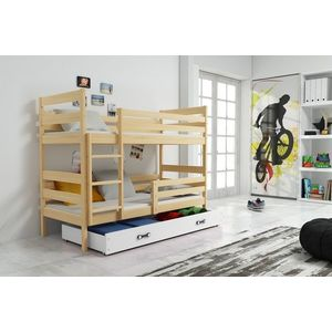 BMS Detská poschodová posteľ ERYK | BOROVICA Farba: Borovica / biela, Rozmer.: 160 x 80 cm vyobraziť