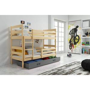 BMS Detská poschodová posteľ ERYK | BOROVICA Farba: Borovica / sivá, Rozmer.: 160 x 80 cm vyobraziť