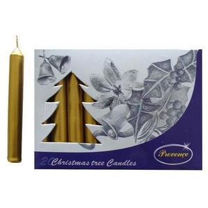 Provence Vianočná sviečka 10cm PROVENCE 20ks zlatá vyobraziť