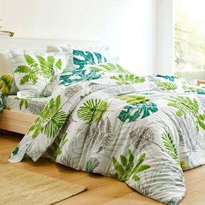 Obliečky Kvetinové girlandy zelená napínacia plachta 140x190cm vyobraziť