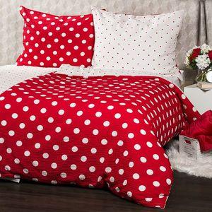 4Home Krepové obliečky Červená bodka, 140 x 220 cm, 70 x 90 cm vyobraziť