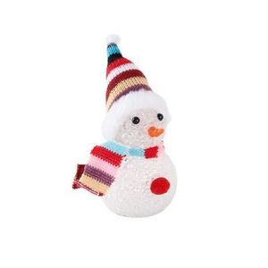 Vianočné dekorácie snehuliak vyobraziť