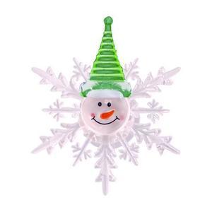TORO Vianočná okenní LED vločka TORO 10cm snehuliak vyobraziť