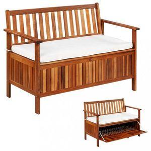 Záhradná lavica s úložným prostotrem akáciové drevo Dekorhome vyobraziť