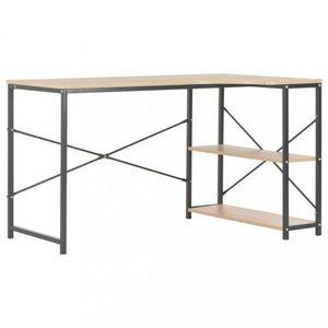 Rohový písací stôl 120x72 cm Dekorhome Čierna / dub vyobraziť