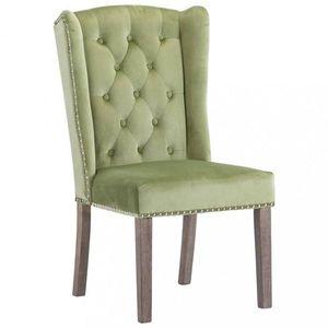 Jedálenská stolička zamat / kaučukovník Dekorhome Zelená vyobraziť