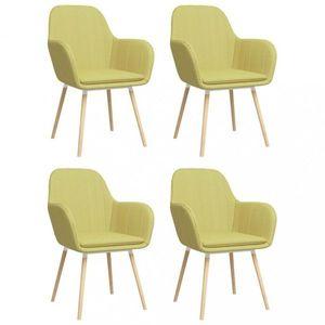 Jedálenská stolička 4 ks látka / bukové drevo Dekorhome Zelená vyobraziť