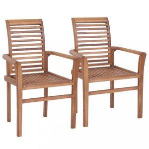 Stohovateľné jedálenské stoličky 2 ks hnedá Dekorhome vyobraziť