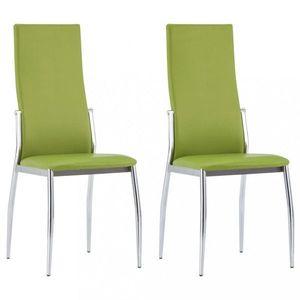 Jedálenská stolička 2 ks umelá koža Dekorhome Zelená vyobraziť