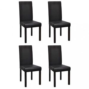 Jedálenská stolička 4 ks umelá koža / drevo Dekorhome Čierna vyobraziť
