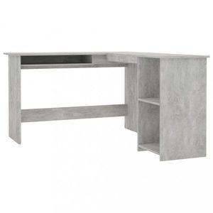 Rohový písací stôl 120x140 cm Dekorhome Betón vyobraziť