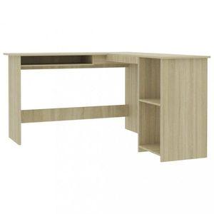 Rohový písací stôl 120x140 cm Dekorhome Dub sonoma vyobraziť