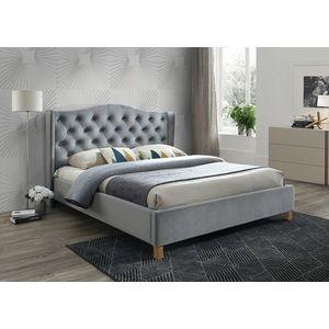 Signal Manželská posteľ ASPEN VELVET 180x200 SIGNAL - spálňový nábytok: sivá Bluvel 14 vyobraziť