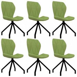 Jedálenská stolička 6 ks umelá koža Dekorhome Zelená vyobraziť